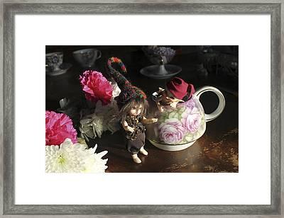 House Brownie Tea Party 5 Framed Print