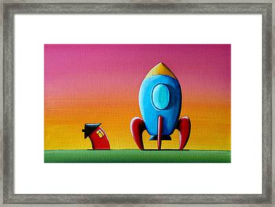 House Builds A Rocketship Framed Print by Cindy Thornton