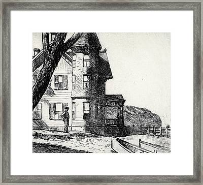 House By A River Framed Print by Edward Hopper