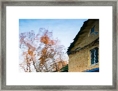 House By The Lake Framed Print by Alexander Senin