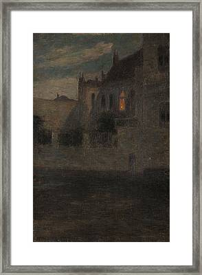 House By The Water  Framed Print by Henri Duhem