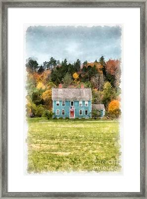 House By The Woods Framed Print