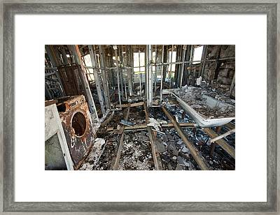 House Destroyed By Bush Fire Framed Print