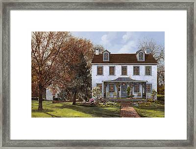 house Du Portail  Framed Print by Guido Borelli