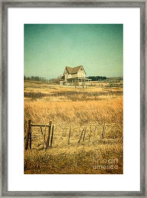 House In A Field Framed Print