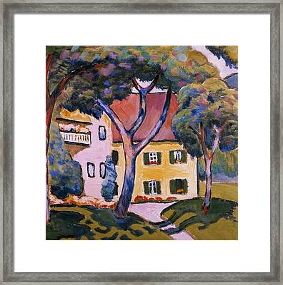 House In A Landscape Framed Print