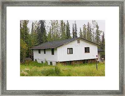House In Fairbanks Alaska Collapsing Framed Print by Ashley Cooper