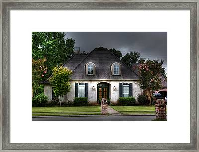 Framed Print featuring the photograph House In Hdr by Cecil Fuselier