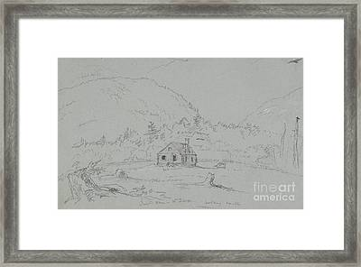 House In Mount Desert Framed Print by  Thomas Cole
