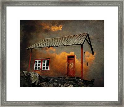 House In The Clouds Framed Print