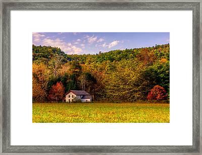 House In The Cove Framed Print by E Mac MacKay