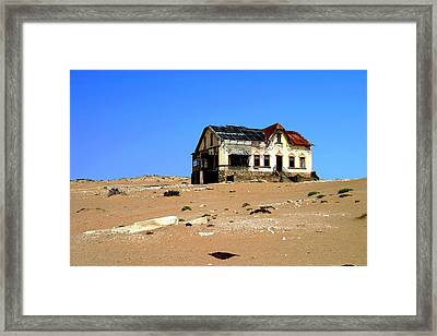 Framed Print featuring the photograph House In The Desert by Riana Van Staden