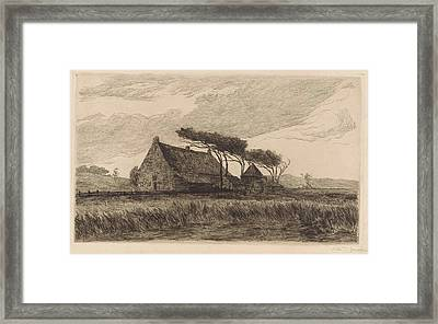 House In The Dunes At Katwijk, The Netherlands Framed Print by Carel Nicolaas Storm Van 's-gravesande