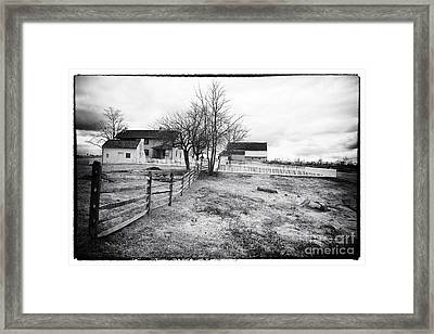 House In The Field Framed Print by John Rizzuto