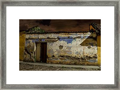 House In The Middle Framed Print by Christian Santizo