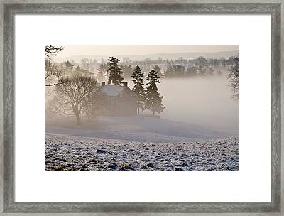 House In The Mist Framed Print