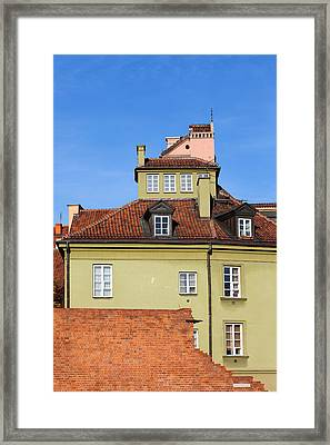 House In The Old Town Of Warsaw Framed Print by Artur Bogacki