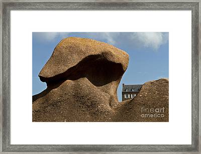 House In The Rocks Framed Print by Heiko Koehrer-Wagner