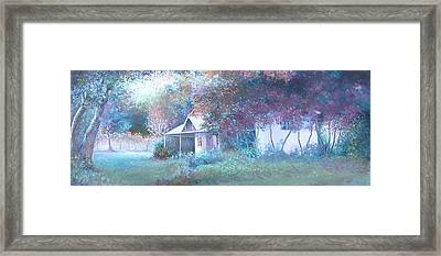 House In The Woods Framed Print by Jan Matson