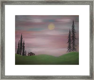 House In The Woods Framed Print by Tina Murray