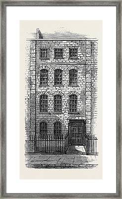 House In Which Handel Lived 57 Brooke Street London Framed Print