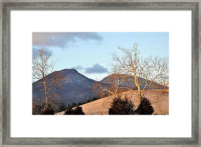 House Mountain Virginia Framed Print by Todd Hostetter
