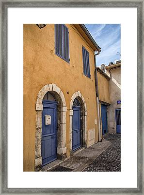 South Of France Colors Framed Print by Georgia Fowler