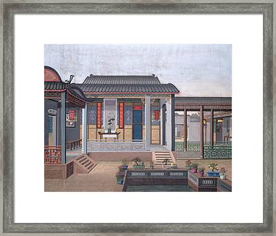 House Of A Chinese Official Framed Print by British Library