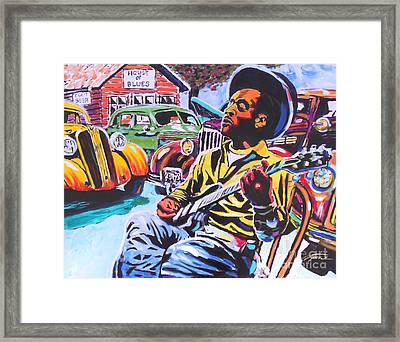 House Of Blues  Framed Print by Jonathan Tyson