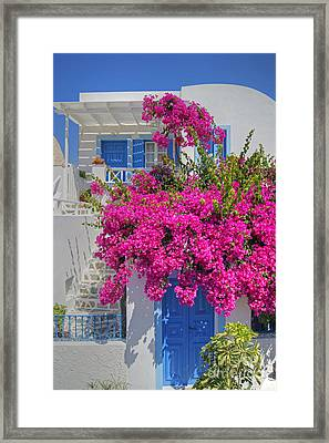 House Of Bougainvillea Framed Print