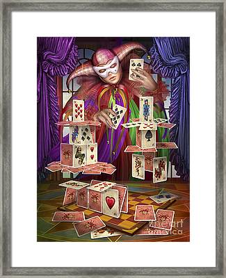 House Of Cards Framed Print by Ciro Marchetti