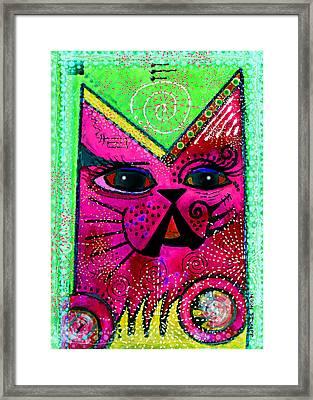 House Of Cats Series - Glitter Framed Print