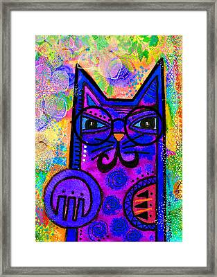 House Of Cats Series - Paws Framed Print by Moon Stumpp