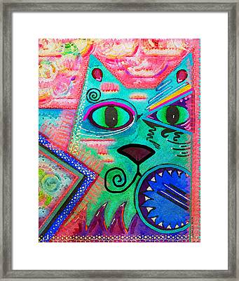House Of Cats Series - Spike Framed Print by Moon Stumpp