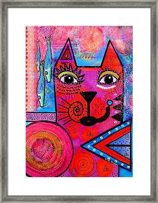 House Of Cats Series - Tally Framed Print by Moon Stumpp