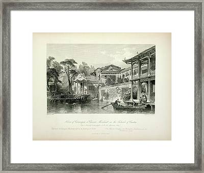 House Of Conseequa Framed Print by British Library