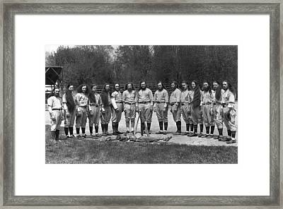 House Of David Baseball Team Framed Print by Underwood Archives