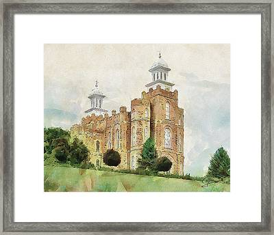 Framed Print featuring the painting House Of Defense by Greg Collins