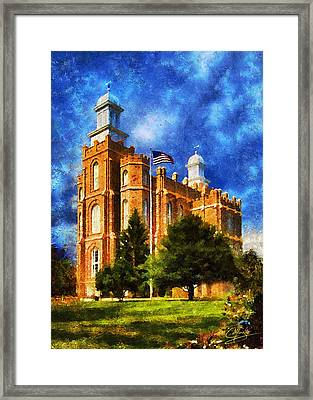 Framed Print featuring the digital art House Of Learning by Greg Collins
