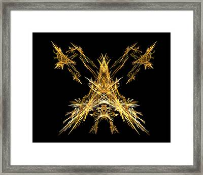 Framed Print featuring the digital art House Of Lightning  by R Thomas Brass