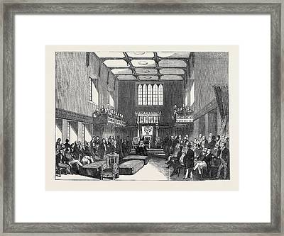 House Of  Lord Chancellor Pronouncing Judgment In The Case Framed Print by English School