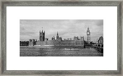 House Of Parliament With Letter Framed Print by Heidi Hermes