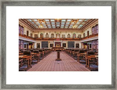 House Of Representatives - Texas State Capitol Framed Print by Mountain Dreams