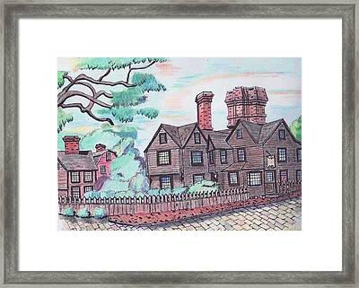 House Of Seven Gables Framed Print