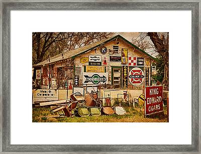 House Of Signs Framed Print by Priscilla Burgers