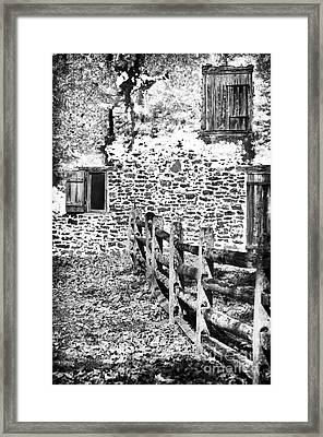 House Of Stone Framed Print by John Rizzuto