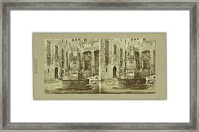 House Of The Grand Inquisitor In Barcelona Spain Spain Framed Print