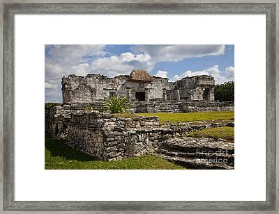 House Of The Halach Uinic Framed Print by Ellen Thane