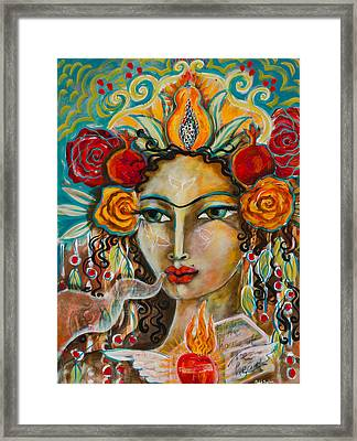 House Of The Heart Framed Print by Shiloh Sophia McCloud