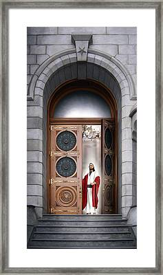 House Of The Lord Framed Print by Brent Borup